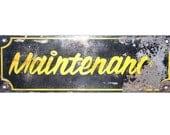 Double Sided Vintage Enamel Sign, Mens Clothiers, Maintenance, Riccardo Arcese, Antique Alchemy