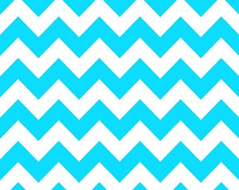 Sale! Neon Blue and White Medium Chevron by Riley Blake