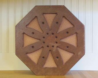 1930's Walnut Octagon Wooden Speaker, 1930's,  Stereo Speaker, Speaker, Stereo Parts, Wood, Walnut, Round, Octagon, Heath Kit, Homemade