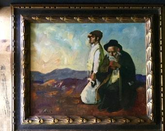Antique Oil Painting, Jewish Painting, Israel Judaica, Antique Paintings, Peasant Art, Vintage Oil Painting, Judaica Store, Old Man Painting