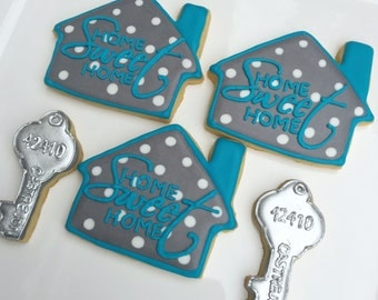 House and Key Cookies