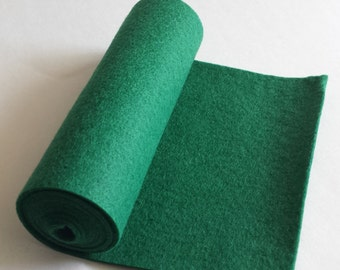 SALE 5x36 Hunter Green Wool Blend Felt Roll