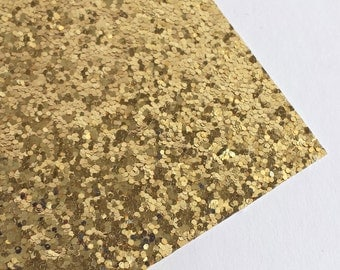 SALE 8x11 Gold Chunky Glitter Fabric Sheet