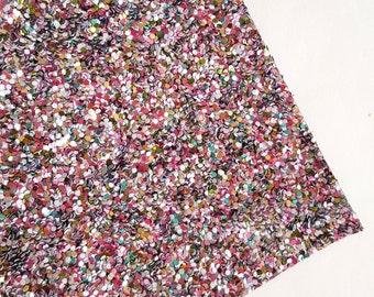 SALE 8x11 Sprinkles Chunky Glitter Fabric Sheet