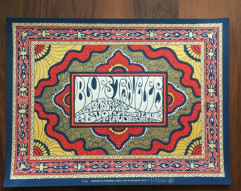 Blues Traveler concert poster by Nathaniel Deas