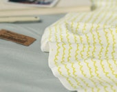 """Wavy Lines Smooth Minky Fabric - Lime Yellow - 59"""" Wide - By the Yard 84450"""