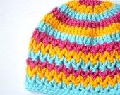 Crochet baby hat pattern, crochet hat pattern, crochet beanie, V-stitch beanie, 6 sizes - newborn to adult, Pattern No. 73