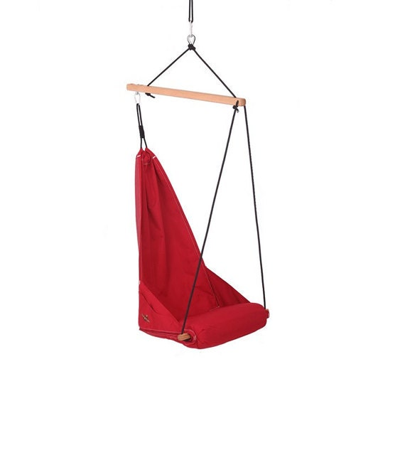 Special patent hanging chair / hammock chair / porch swing / indoor swing / outdoor patio furniture / Lounge / Color Red (Hang Solo Model)