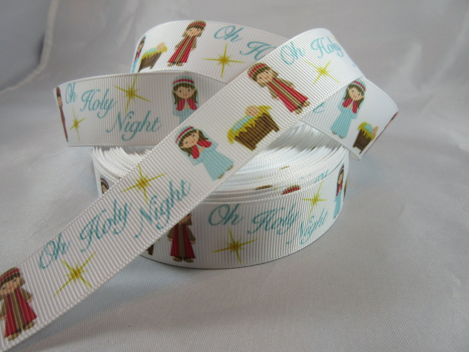 Oh holy night ribbon merry christmas jesus nativity for Craft supplies online cheap