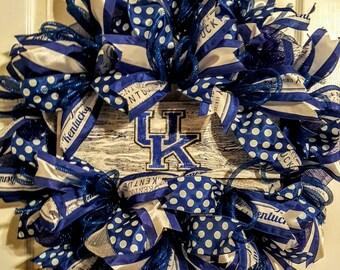 University of Kentucky Wreath, Kentucky Wreath, Kentucky Door Hanger, College Football