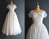 Rooney / 50s wedding dress / vintage 1950s wedding dress