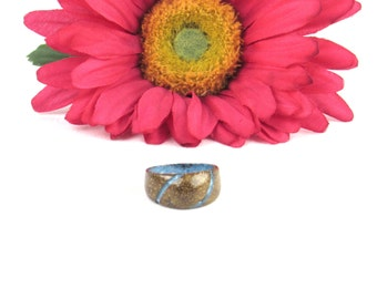 Coconut Shell Ring Size 8.5 - Men or Women Jewelry