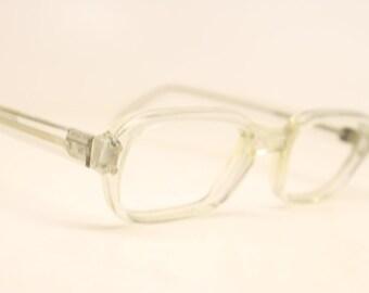 Vintage Eyeglass Frames Clear Retro Eyeglasses  1970's vintage eyewear  Vintage Eyeglasses
