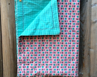 Handmade Flannel and Vintage Fabric Baby Blanket