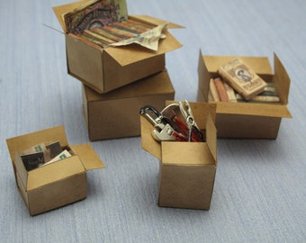 Gaël  Miniature Aticc box  1 :12 Dollhouse Miniature Home Decor Accessory. Handmade miniatures
