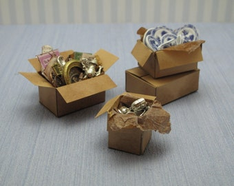 Gaël  Miniature Aticc box vintage 1 :12 Dollhouse Miniature Home Decor Accessory. Handmade miniatures