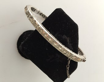 ART Deco Bracelet Bangle Bracelet Channel Set Bracelet STERLING Bracelet, Rhinestone Bangle Bracelet 1920s Vintage