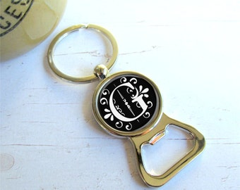 Personalized Bottle Opener, Groomsman Gift, Custom Bottle Opener Keychain