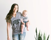 Mom and Baby SET of 2 • Mama Bear Tee and Baby Bear Onesie Matching Set Sold Together • Mothers Day Gift • FREE SHIPPING
