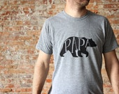 Papa Bear T-shirt • Dad Shirt • Hand-lettered Typographic Bear Design • American Apparel Tee • Papa Bear Tee • Gift for Dads • FREE SHIPPING