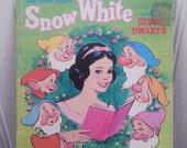 Vintage Walt Disney's Snow Whiteman the Seven dwarfs book