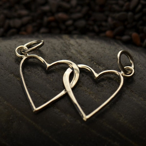 Sterling Silver Intertwined Hearts Festoon