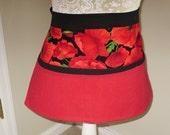 Hand sewn multi-colored woman's utility apron