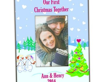 Personalized Our First Christmas Together Photo Frame