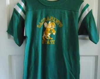 Vintage 70s/80s SACRAMENTO STATE T Shirt sz XS