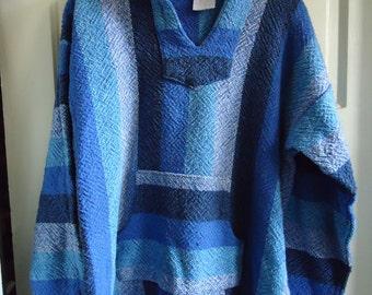Vintage 90s BAJA DRUG RUG Pullover Hoodie sz M/L