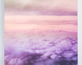 "cloud art canvas gallery wrap / sky photography / purple pink canvas wall art / violet home decor / ethereal photography / ""Purple Haze"""