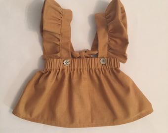 Girl's Skirt with Flutter straps