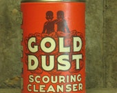 Rare African American -- GOLD DUST cleanser can -- very collectible - Never opened
