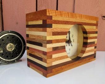 Clock, Desk Clock, Bedroom Clock, Modern Clock, Wood Clock, Mantel Clock
