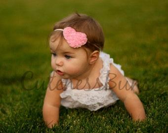Baby Girl Headbands, Baby Headband, Baby Bows Headband, Infant Headband, Valentines Head band, Heart Headband, Valentines Bow, hairbow
