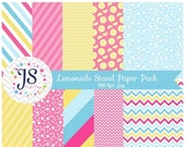 80% OFF - INSTANT DOWNLOAD, lemonade stand paper pack, for commercial use, personal use