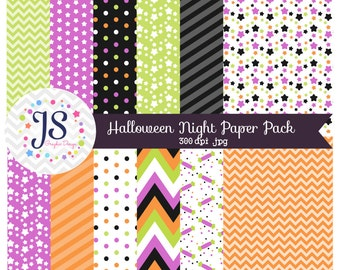 INSTANT DOWNLOAD, halloween night digital paper pack for personal and commercial use