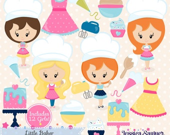 INSTANT DOWNLOAD,  baking clipart and vectors for baking logo, crafts, or commercial use