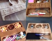 Storage Tray  Solid wood and personalised.  Can be customised!