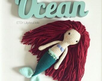 Little Mermaid Crochet Doll - Amigurumi - room decoration