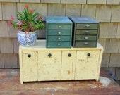 Vintage Binister Metal Storage Bin Set  5 Piece