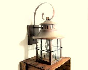 Vintage Copper and Brass Lantern