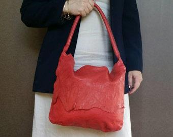 Distressed purse / boho chic hobo bag / unique rustic bohemian shoulder handbag Anabel