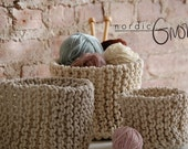 Scandinavian Knitted Basket | S-M-L-XL | Handmade by Nordic Gnome | Made to Order |