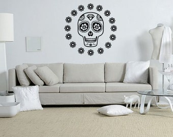 Sugar Skull Wall Decal Sticker