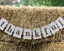 Simple Handmade Thankful Banner, Fall Thanksgiving Decorations, Fall Photo Props, Thankful Banner, Fall Mantle Banner, Fall Decor, Fireplace
