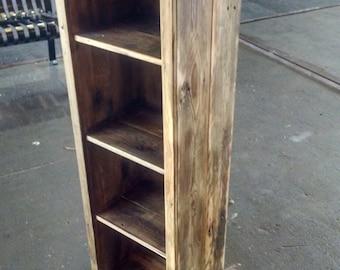 Bookcase, Wood Bookcase, Reclaimed Wood Bookcase