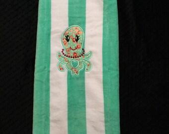 Opal the Octopus Beach Towel