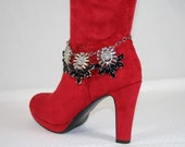 Rhinestone Boot Bling Glamour Boot Jewelry Wedding Boot Bracelet Special Occasion Diva Bling