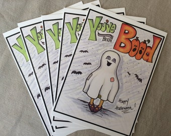 You've been BOO'D!  Happy Halloween Boo Cards